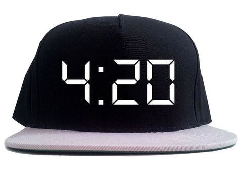 420 Time Weed Somker 2 Tone Snapback Hat By Kings Of NY