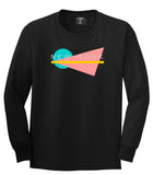 70s New York Spring Long Sleeve T-Shirt in Black