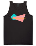 70s New York Spring Tank Top in Black