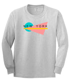 70s New York Spring Long Sleeve T-Shirt in Grey