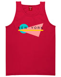 70s New York Spring Tank Top in Red