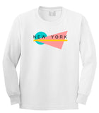 70s New York Spring Long Sleeve T-Shirt in White