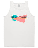 70s New York Spring Tank Top in White