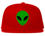 Alien Head Green Snapback Hat