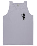 Alien Peace Sign Chest Grey Tank Top Shirt by Kings Of NY