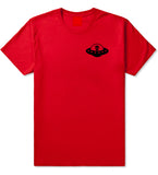 Alien_Spaceship_Chest Mens Red T-Shirt by Kings Of NY