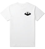 Alien_Spaceship_Chest Mens White T-Shirt by Kings Of NY