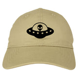 Alien_Spaceship_Chest Mens Tan Snapback Hat by Kings Of NY