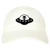 Alien_Spaceship_Chest Mens White Snapback Hat by Kings Of NY