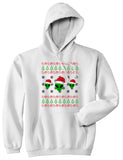 Alien Ugly Christmas White Mens Pullover Hoodie