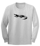 Alligator Grey Long Sleeve T-Shirt by Kings Of NY
