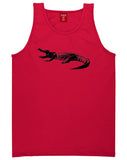 Alligator Red Tank Top Shirt by Kings Of NY