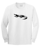 Alligator White Long Sleeve T-Shirt by Kings Of NY