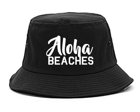 Aloha Beaches Bucket Hat Black