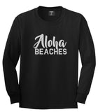 Aloha Beaches Black Long Sleeve T-Shirt by Kings Of NY