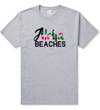 Aloha Beaches Grey T-Shirt by Kings Of NY