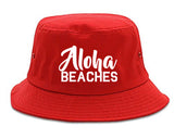 Aloha Beaches Bucket Hat Red