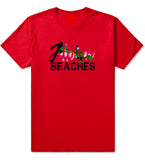 Aloha Beaches Red T-Shirt by Kings Of NY