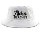 Aloha Beaches Bucket Hat White