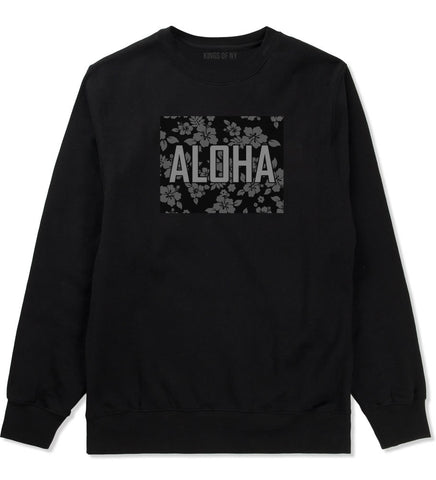 Aloha Hawaiian Pattern Crewneck Sweatshirt
