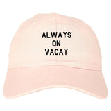 Always_On_Vacay Mens Pink Snapback Hat by Kings Of NY
