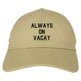 Always_On_Vacay Mens Tan Snapback Hat by Kings Of NY