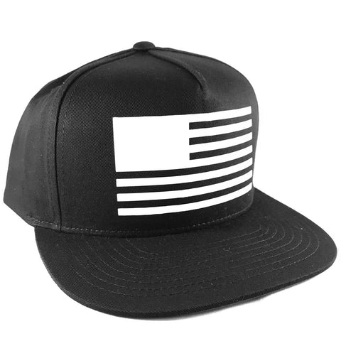 American Flag United States Mens Snapback Hat Cap Black