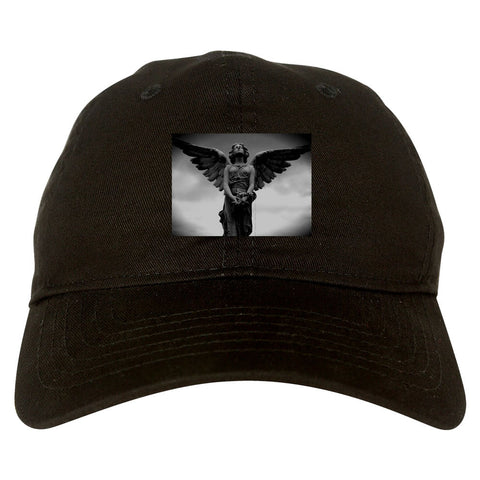 Angel Statue Wings Dark Goth Dad Hat