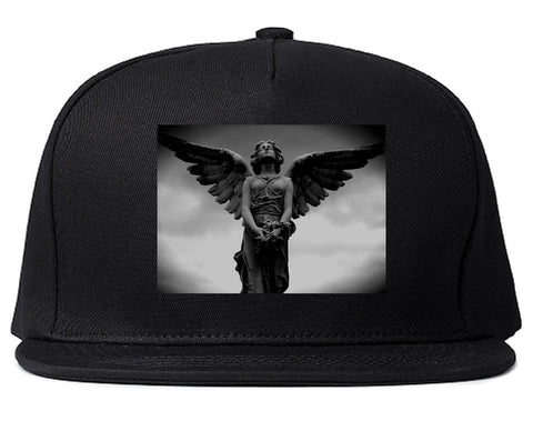 Angel Statue Wings Dark Goth Snapback Hat