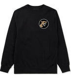 Angry Cougar Chest Black Crewneck Sweatshirt by Kings Of NY