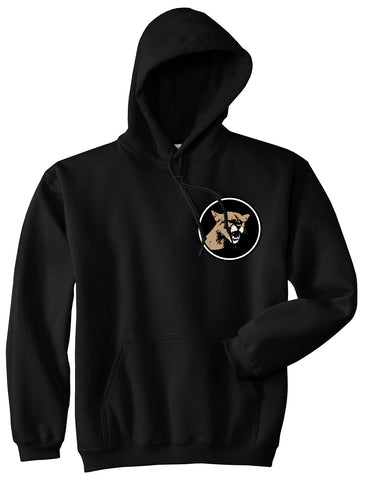 Angry Cougar Chest Black Pullover Hoodie by Kings Of NY