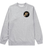 Angry Cougar Chest Grey Crewneck Sweatshirt by Kings Of NY