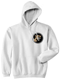 Angry Cougar Chest White Pullover Hoodie by Kings Of NY