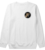 Angry Cougar Chest White Crewneck Sweatshirt by Kings Of NY