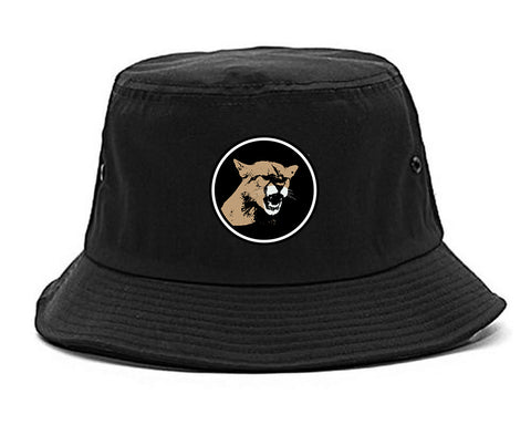 Angry Cougar Chest Bucket Hat Black