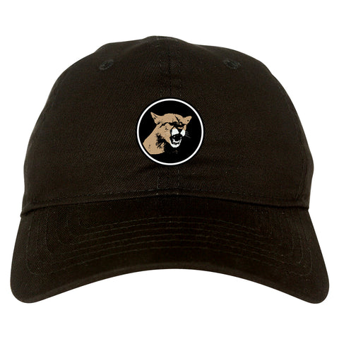 Angry Cougar Chest Dad Hat Baseball Cap Black