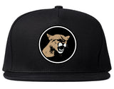 Angry Cougar Chest Snapback Hat Black