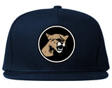 Angry Cougar Chest Snapback Hat Blue