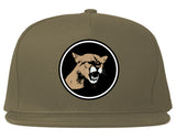 Angry Cougar Chest Snapback Hat Grey