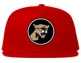 Angry Cougar Chest Snapback Hat Red