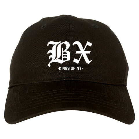 BX Old English Bronx New York Black Dad Hat