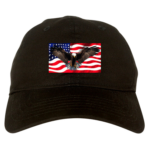 Bald Eagle American Flag Mens Dad Hat by Kings Of NY – KINGS OF NY 4859fce5dadc