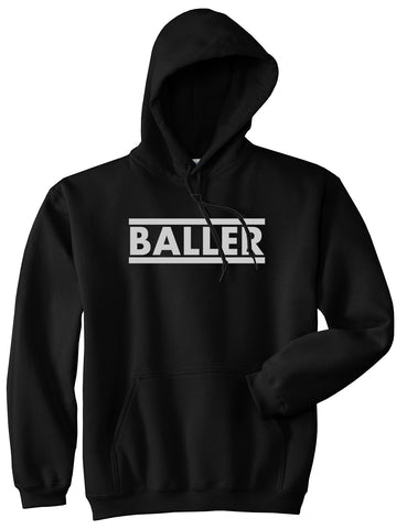 Baller Black Pullover Hoodie by Kings Of NY