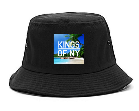 Beach Vacation Box Logo Mens Snapback Hat Black