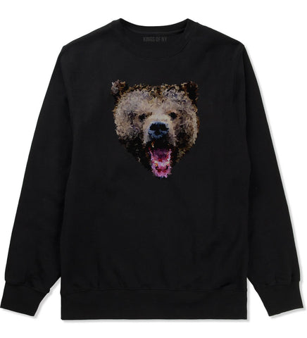Bear Artwork Crewneck Sweatshirt