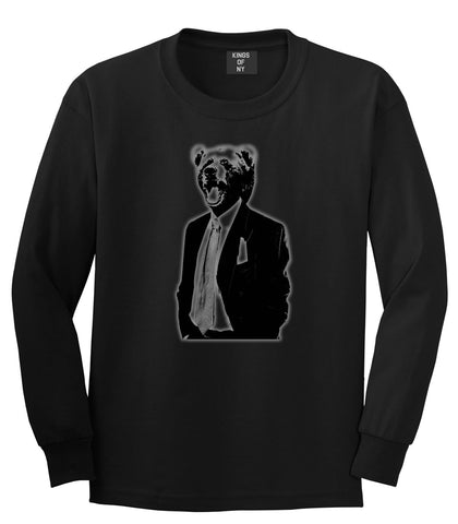 Bear In Suit Funny Long Sleeve T-Shirt