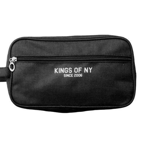 Black Logo Mens Travel Toiletry Bag