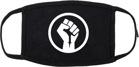 Black Power Fist Cotton Face Mask Black
