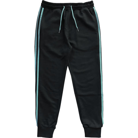 Black with Blue Stripes Jogger Sweatpants