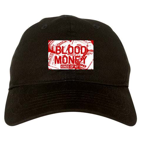 Blood Money 100s Mens Dad Hat Baseball Cap Black